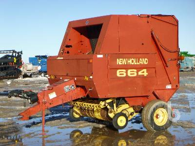 1998 NEW HOLLAND 664 Round Baler