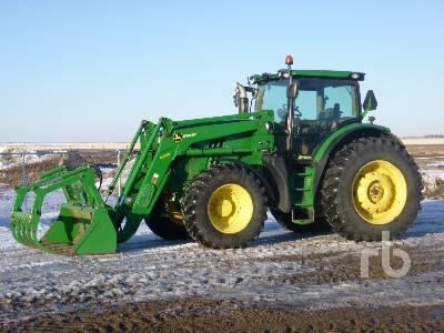 2013 JOHN DEERE 6190R MFWD Tractor