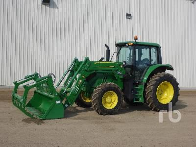2015 JOHN DEERE 6120M MFWD Tractor