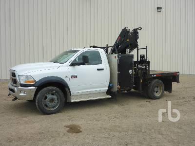 2012 DODGE 5500 4x4 w/Hiab 055D-3CLX 3500 Lb Boom Truck