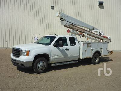 2009 GMC 3500 HD Extended Cab w/Stelco C630-ES213 Bucket Truck