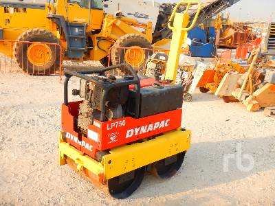 2008 DYNAPAC LP750 Tandem Vibratory Smooth Drum Walk Behind Roller