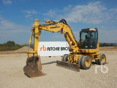 2012 KOMATSU PW118MR-8 4x4X4 Mobile Excavator