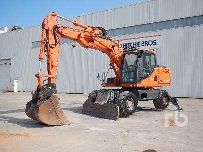 2012 DOOSAN DX160W Pelle Sur Pneus Mobile Excavator