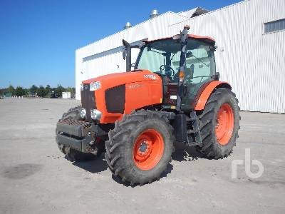 2015 KUBOTA M135GX 4WD Agricultural Tractor MFWD Tractor