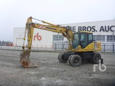 2005 KOMATSU PW130-7K Mobile Excavator