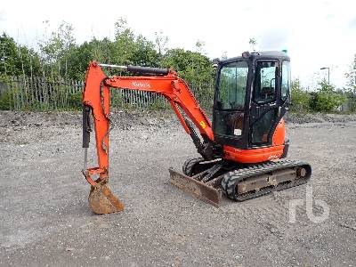 2014 KUBOTA U25-3A Mini Excavator (1 - 4.9 Tons)