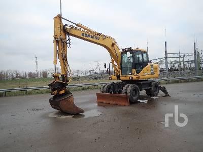 2010 KOMATSU PW160-7E0 Mobile Excavator