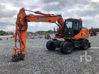 2015 DOOSAN DX140W-3 Mobile Excavator