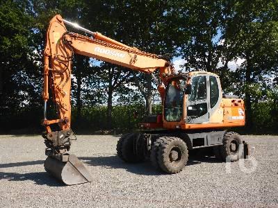 2008 DOOSAN DX140W 4x4 Mobile Excavator