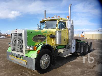 1986 PETERBILT 359 Day Cab Truck Tractor (Tri/A)