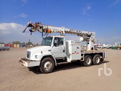 1996 FREIGHTLINER FL80 T/A w/Simon-Telelect Commander 5000 Digger Derrick Truck