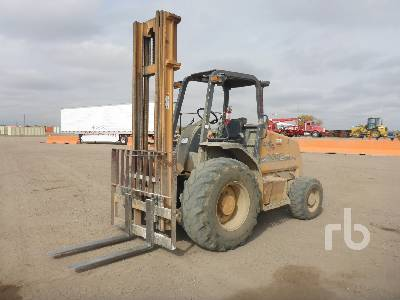 2005 CASE 586G 6000 Lb 4x4 Rough Terrain Forklift