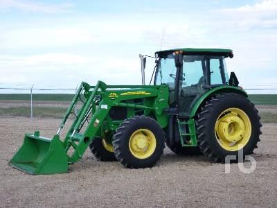 2012 JOHN DEERE 6140D MFWD Tractor