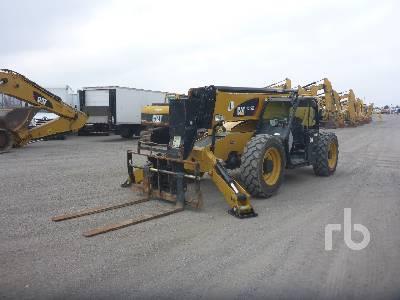 2018 CATERPILLAR TL1255D 12000 Lb 4x4x4 Telescopic Forklift