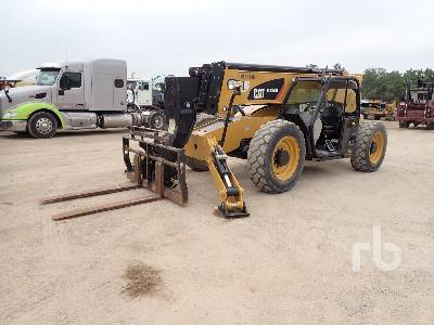 2015 CATERPILLAR TL1055D 10000 Lb 4x4x4 Telescopic Forklift