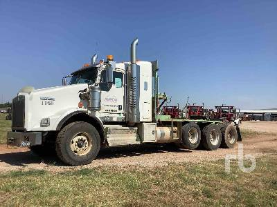 2013 KENWORTH T800 Tri/A Sleeper Winch Tractor