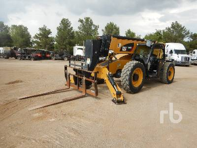 2017 CATERPILLAR TL1055D 10000 Lb 4x4x4 Telescopic Forklift