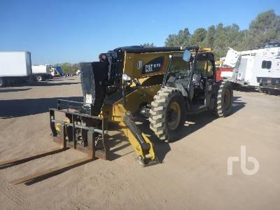 2018 CATERPILLAR TL1055D 10000 Lb 4x4x4 Telescopic Forklift