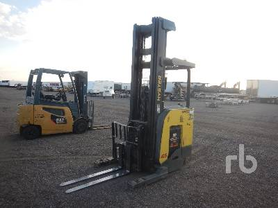 2014 HYSTER N45ZR2-16.5 4500 Lb Stand Up Narrow Aisle Electric Forklift