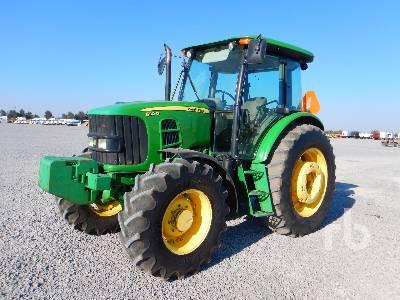 2009 JOHN DEERE 6110D MFWD Tractor
