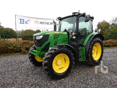 2012 JOHN DEERE 6125R 4WD Agricultural Tractor MFWD Tractor