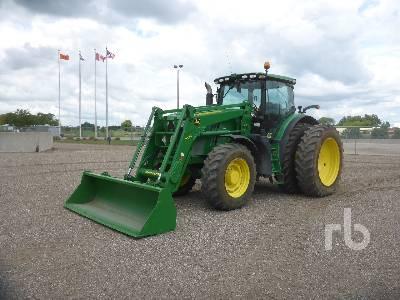2012 JOHN DEERE 6210R MFWD Tractor