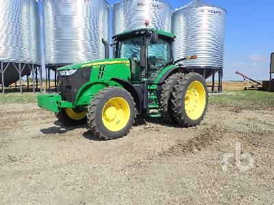 2013 JOHN DEERE 7200R Row Crop MFWD Tractor