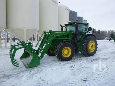 2015 JOHN DEERE 6195R MFWD Tractor