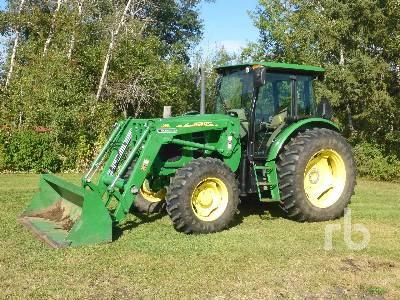 2010 JOHN DEERE 6140D MFWD Tractor