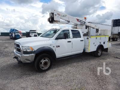 2012 DODGE 5500HD Crew Cab 4x4 w/Terex Hi Ranger LT38 Bucket Truck
