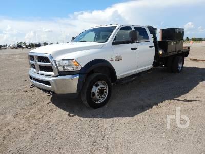 2016 RAM 5500HD Crew Cab Flatbed Truck