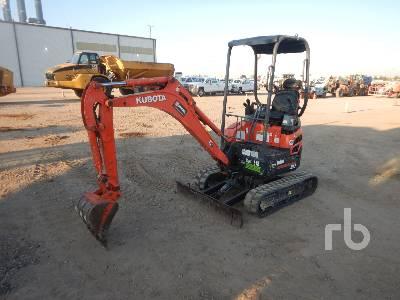 2015 KUBOTA U17VR1 Mini Excavator (1 - 4.9 Tons)