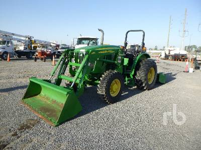 2016 JOHN DEERE 5085E Tier 4 Engine with 6 Way Box Blade MFWD Tractor