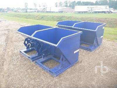 Unused QTY OF 4 SUIHE 1 CY Self Dumping Hoppers Container Equipment - Other