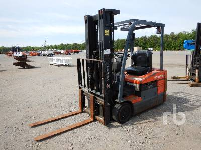 2009 TOYOTA 7FBEU18 4800 Lb Ride On Electric Forklift