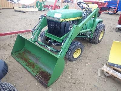 JOHN DEERE C400F Garden Tractor