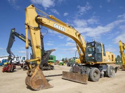 2007 JOHN DEERE 210CW 4x4 Mobile Excavator