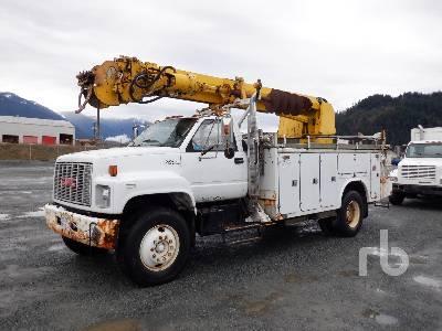 1992 GMC C7 Topkick S/A w/Altec D845-BR Digger Derrick Truck