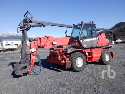 2001 MANITOU MRT2145 10000 Lb 4x4x4 Telescopic Forklift
