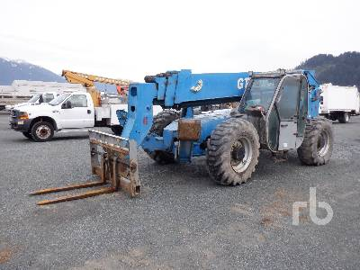 2008 GENIE GTH1056 10000 Lb 4x4x4 Telescopic Forklift