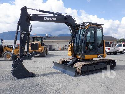 2016 JOHN DEERE 75G Midi Excavator (5 - 9.9 Tons)