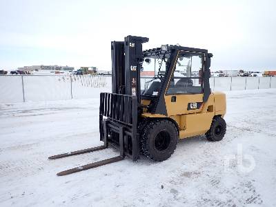 2008 CAT DP45K Pneumatic 10000 Lb Forklift