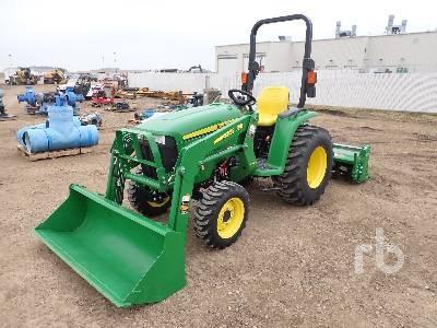 2017 JOHN DEERE 3032E MFWD Utility Tractor