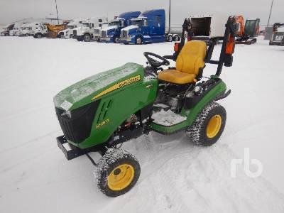 2017 JOHN DEERE 1025R MFWD Utility Tractor