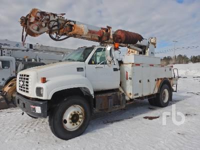 2000 CHEVROLET C8500 S/A w/Altec D845DR Digger Derrick Truck