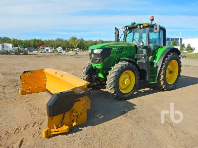 2015 JOHN DEERE 6140M MFWD Tractor