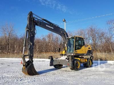 2013 VOLVO EW160D 4x4 Mobile Excavator
