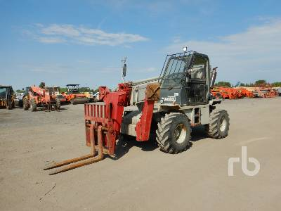 1990 MANITOU MT430CPDS 6600 Lb 4x4x4 Telescopic Forklift
