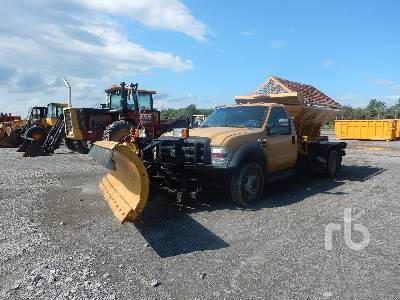 2008 FORD F550 S/A Plow Truck